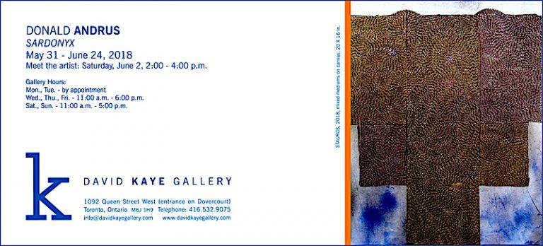 David Kaye Gallery 2018 invitation