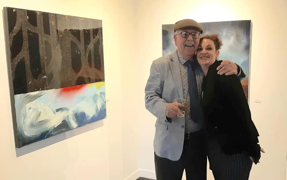 Artist and Elizabeth Barbosa, May 17, 2019