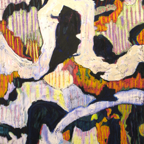 UNTITLED (05/20), 2020 oil stick/pastel on canvas,  101.6x76.2cm